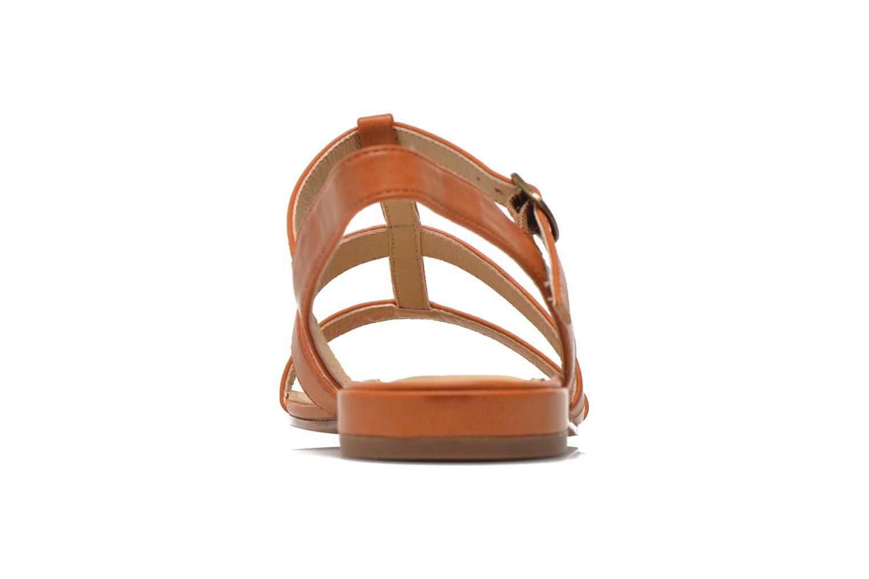 Sandales et nu-pieds Esprit Aely Sandal Marron vue droite
