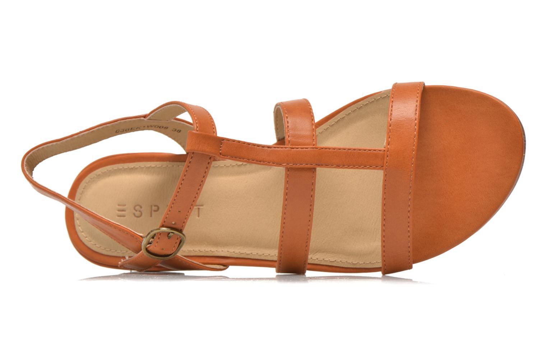 Sandales et nu-pieds Esprit Aely Sandal Marron vue gauche