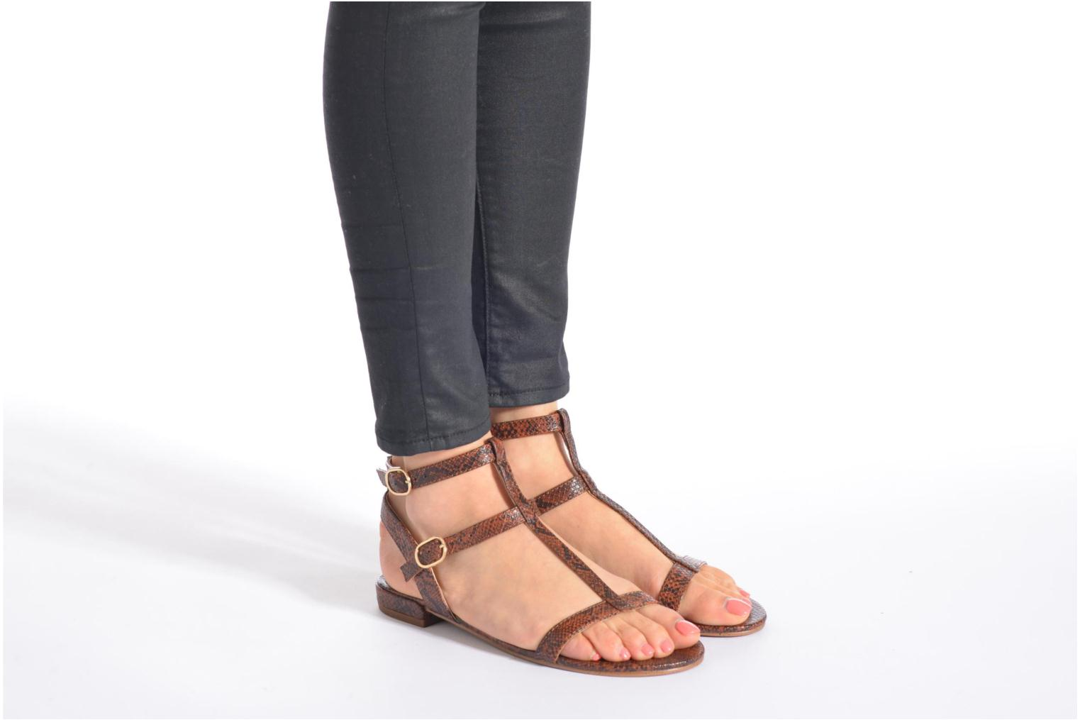 Sandals Esprit Aely Bis Sandal Bronze and Gold view from underneath / model view