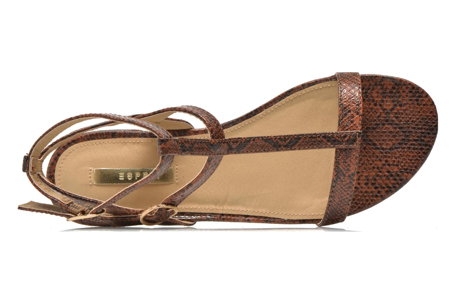 Sandals Esprit Aely Bis Sandal Brown view from the left