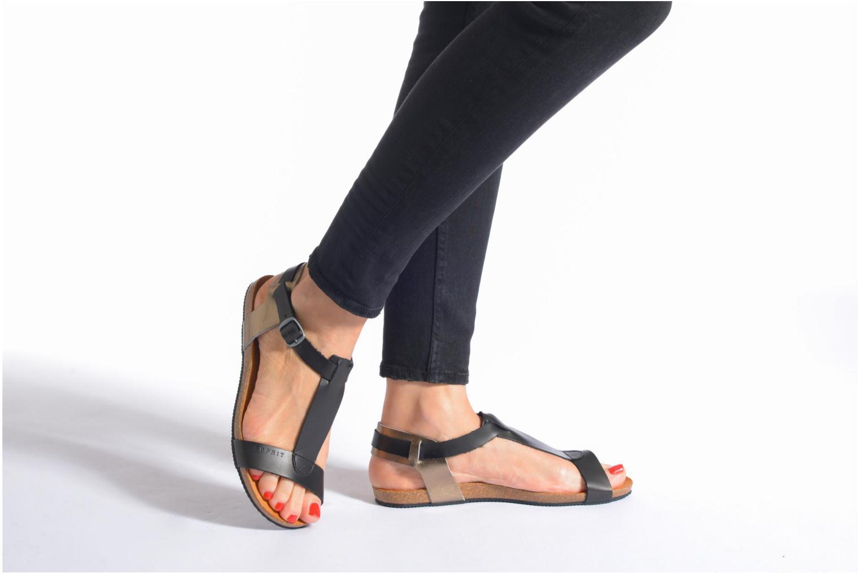 Sandales et nu-pieds Esprit Aisha Sandal 2 Noir vue bas / vue portée sac