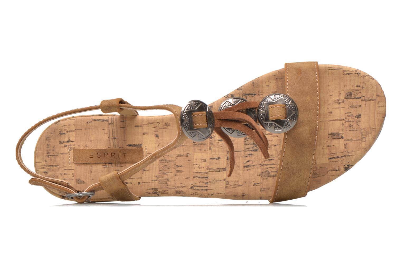 Sandales et nu-pieds Esprit Aely Ter Sandal Marron vue gauche