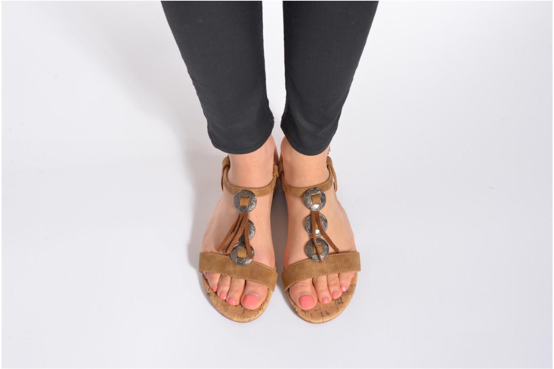 Sandales et nu-pieds Esprit Aely Ter Sandal Noir vue bas / vue portée sac