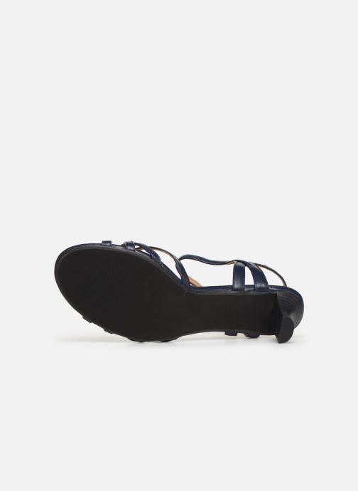 Sandales et nu-pieds Esprit Birkin Sandal Bleu vue haut