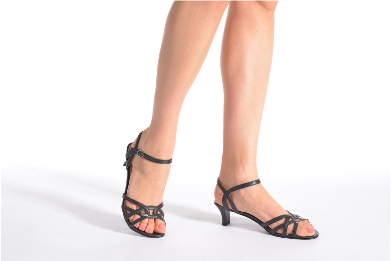 Sandales et nu-pieds Esprit Birkin Sandal Noir vue bas / vue portée sac