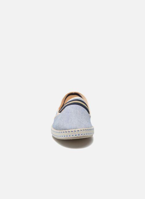 Mocassins Rivieras College Bleu vue portées chaussures