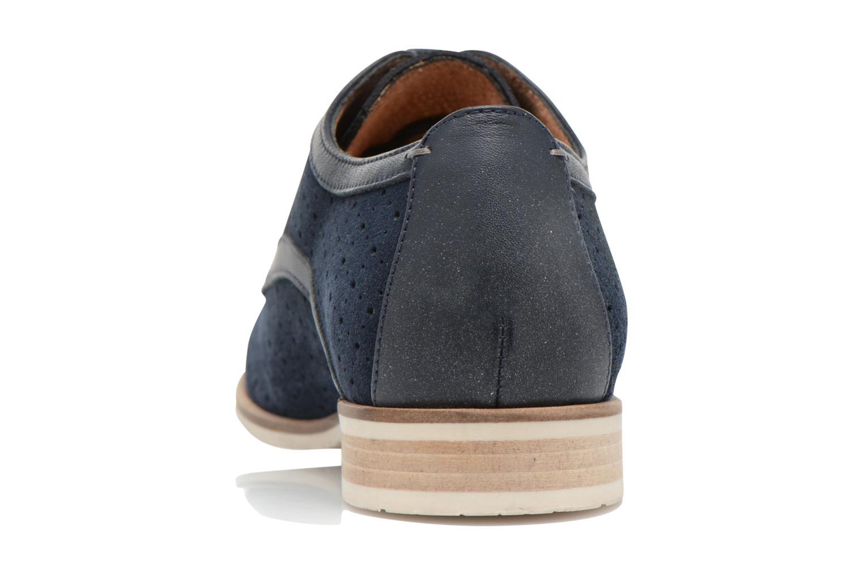 Zapatos con cordones HE Spring Bellem Azul vista lateral derecha