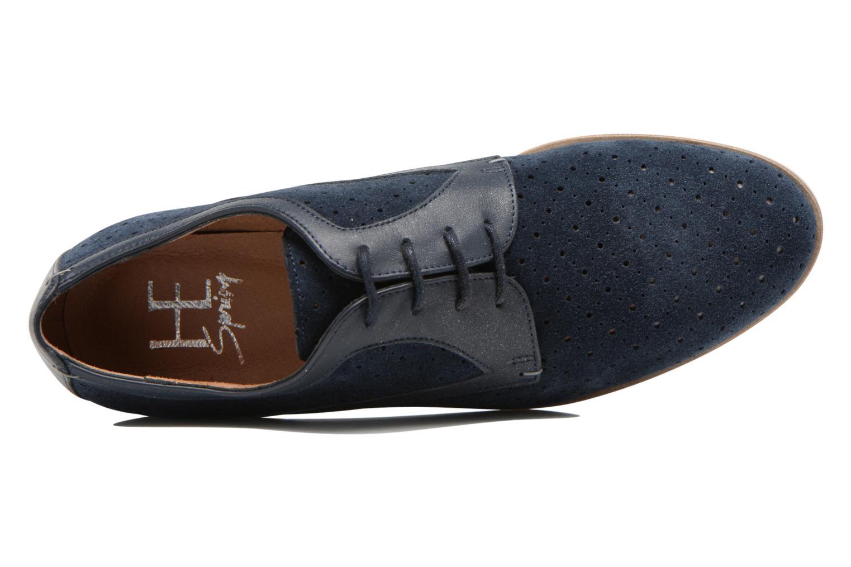 Zapatos con cordones HE Spring Bellem Azul vista lateral izquierda