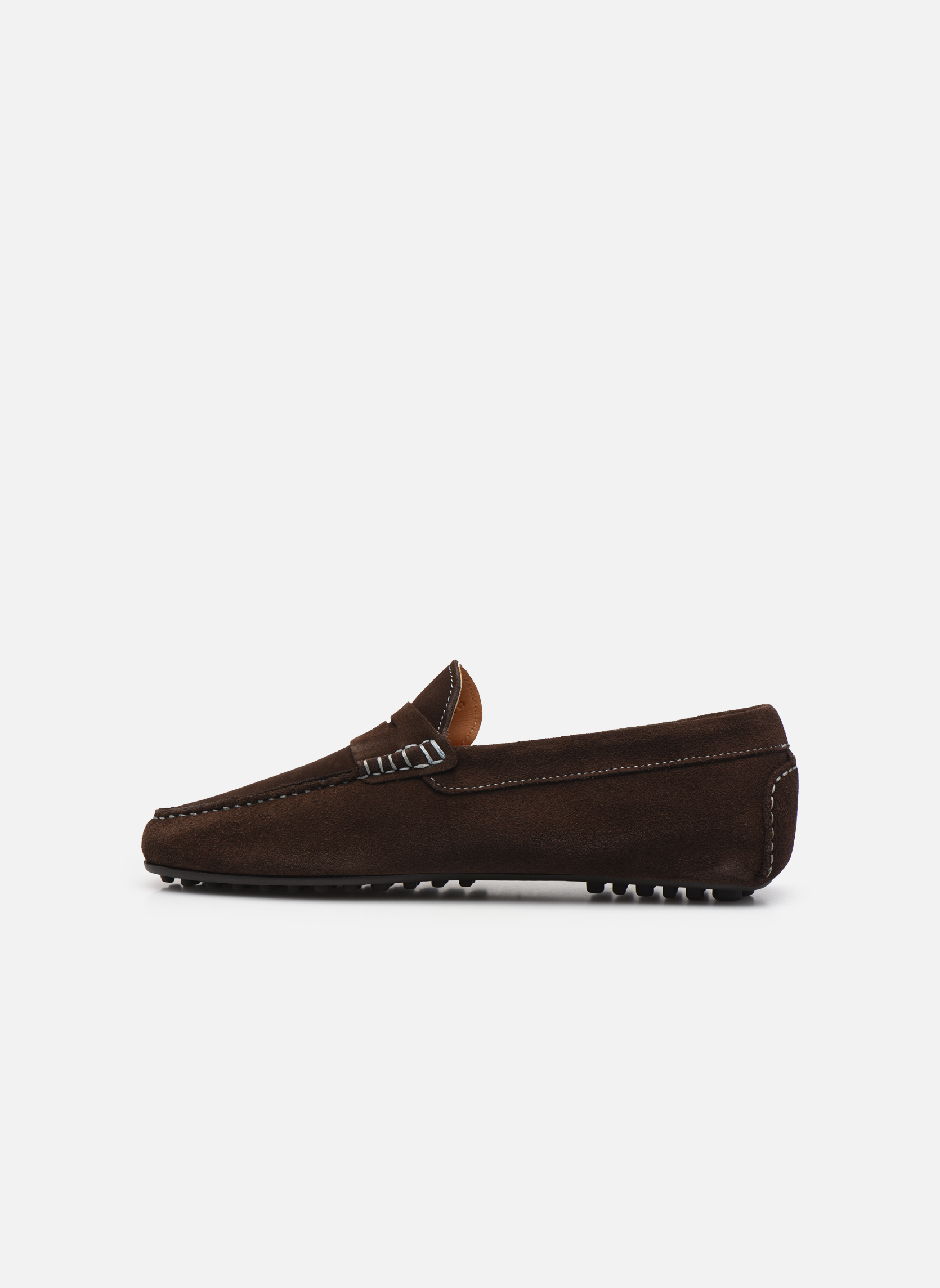 Mocassins HE Spring Penny gomme Marron vue face