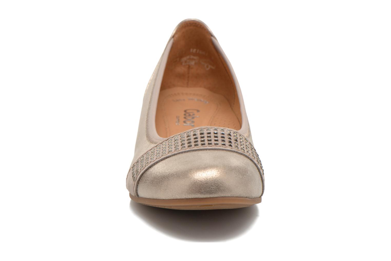 Ballerinas Gabor Elia gold/bronze schuhe getragen
