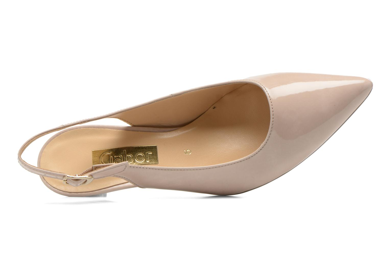 Zapatos de tacón Gabor Liro Beige vista lateral izquierda