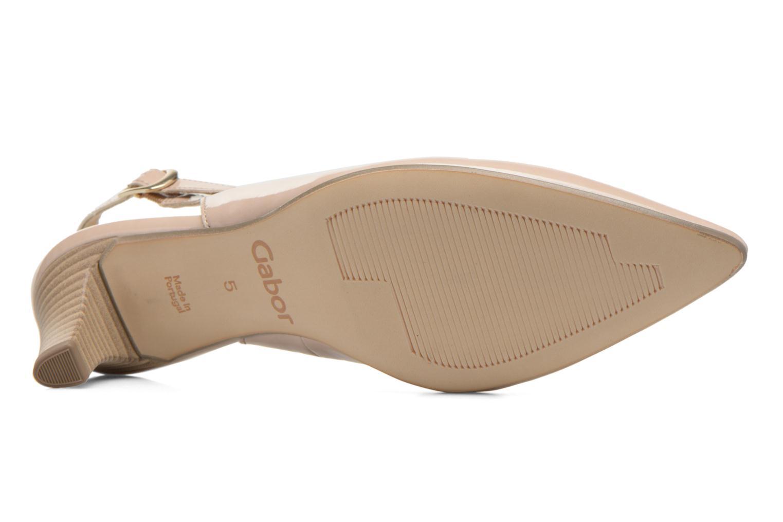 Zapatos de tacón Gabor Liro Beige vista de arriba