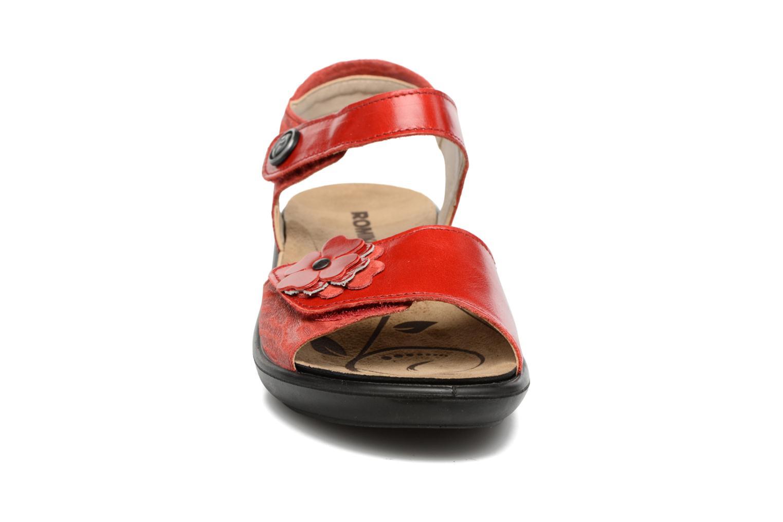Sandales et nu-pieds Romika Ibiza 67 Rouge vue portées chaussures