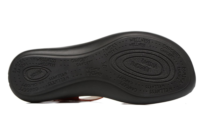 Sandales et nu-pieds Romika Ibiza 67 Rouge vue haut