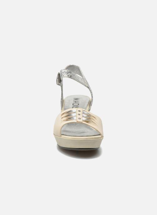 Esclin pieds Madison Nu Et Crème Serpent Sandales bvf6Y7gy