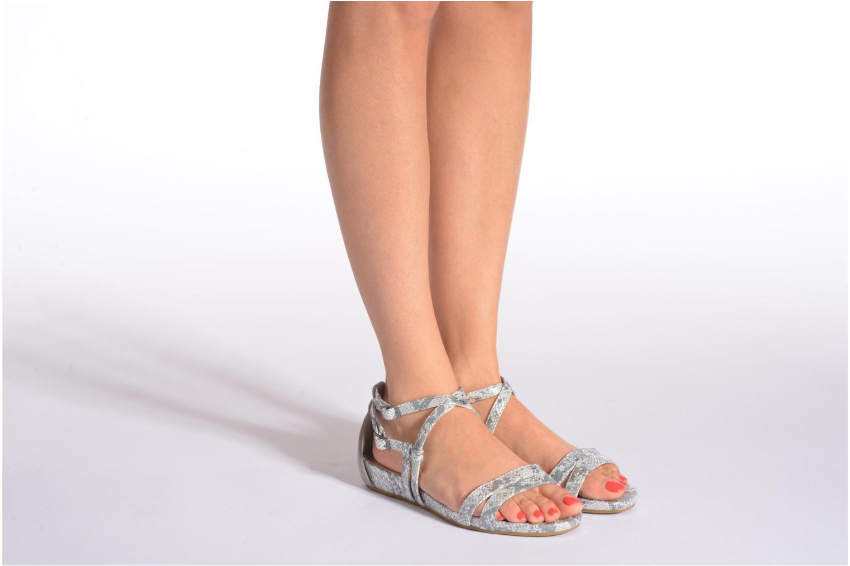 Sandalen Madison Emour silber ansicht von unten / tasche getragen