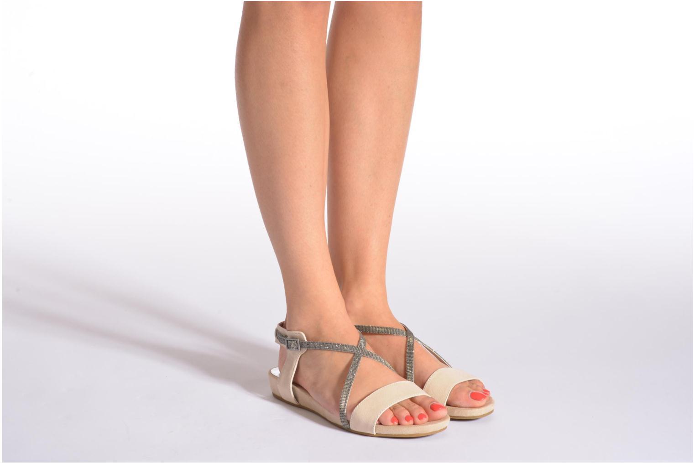 Sandales et nu-pieds Madison Emax Beige vue bas / vue portée sac