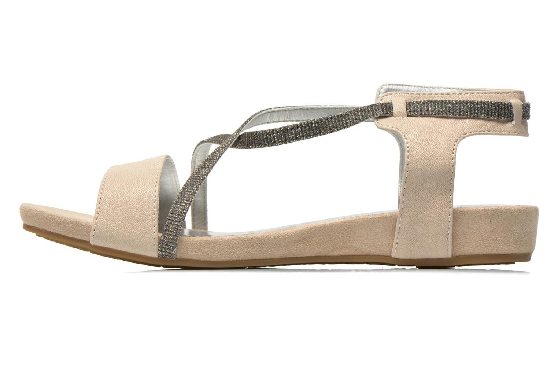 Sandales et nu-pieds Madison Emax Beige vue face