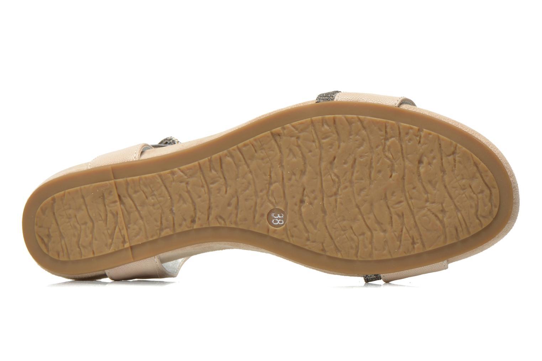 Sandales et nu-pieds Madison Emax Beige vue haut