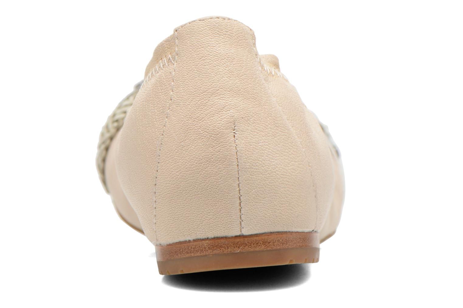 Ballet pumps Madison Clewou Beige view from the right