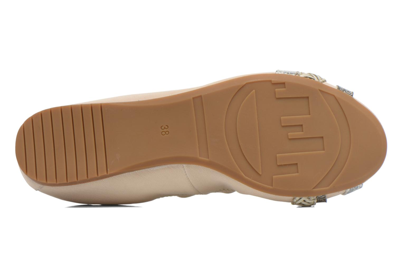 Ballet pumps Madison Clewou Beige view from above