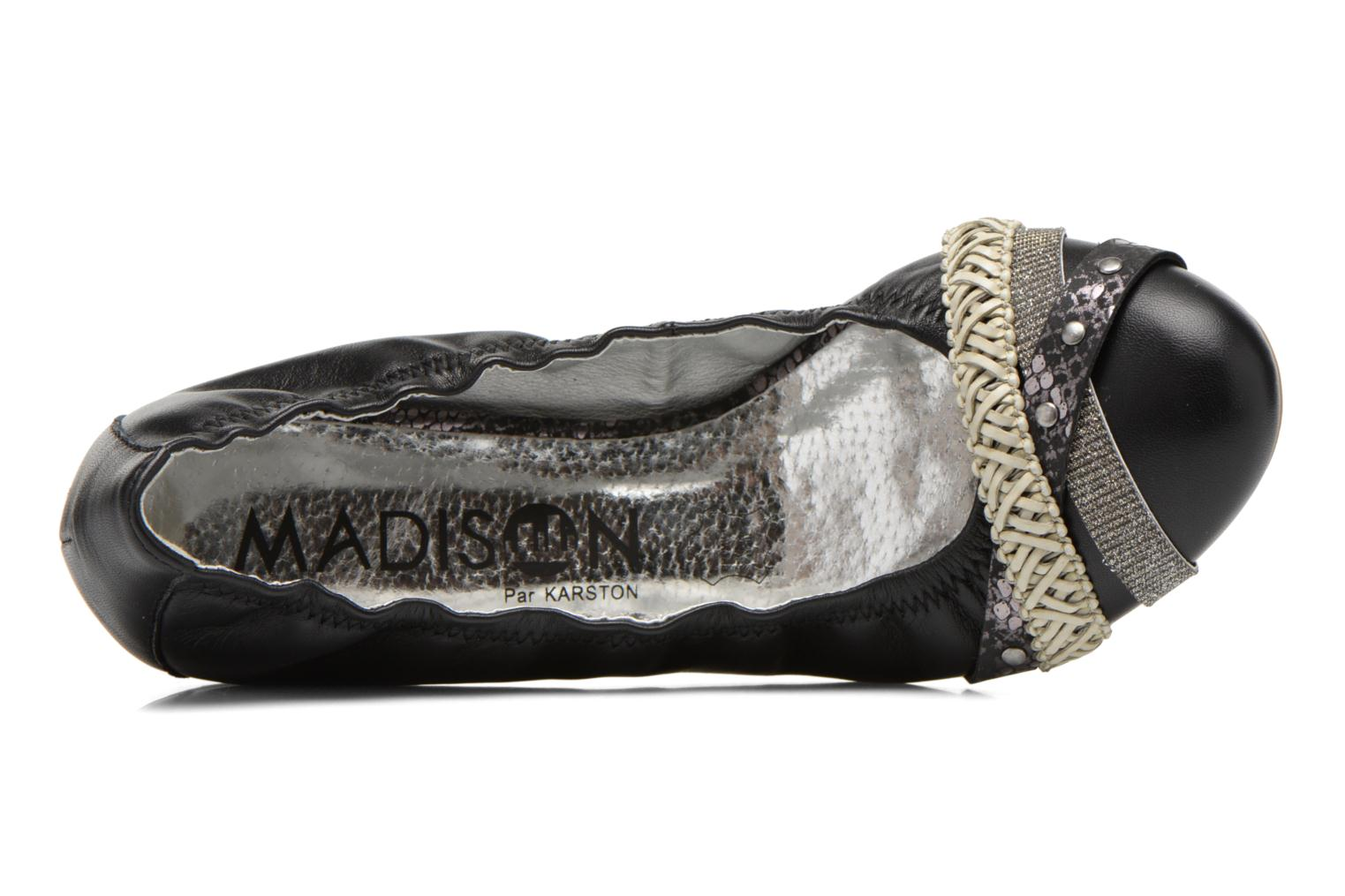 Ballet pumps Madison Clewou Black view from the left