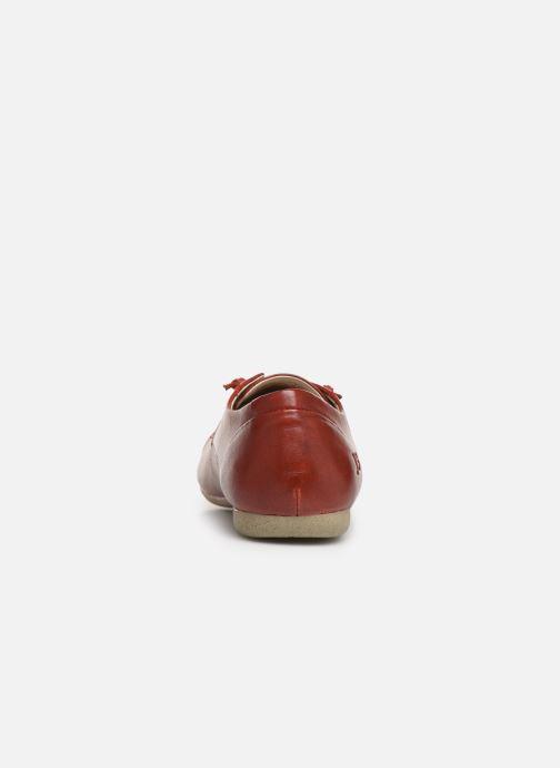 Zapatos con cordones Josef Seibel Fiona 01 Rojo vista lateral derecha