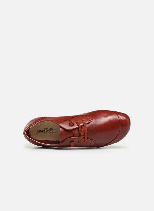 Zapatos con cordones Josef Seibel Fiona 01 Rojo vista lateral izquierda