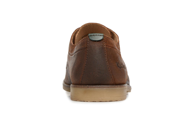 Zapatos con cordones Kickers FLAVESTON Marrón vista lateral derecha