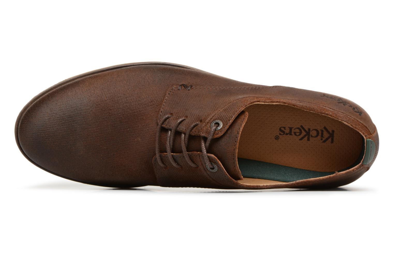 Zapatos con cordones Kickers FLAVESTON Marrón vista lateral izquierda