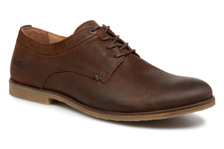 Zapatos con cordones Kickers FLAVESTON Marrón vista de detalle / par