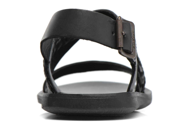 Sandalen Kickers MARVEUS schwarz ansicht von rechts