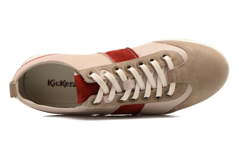Sneaker Kickers BARBOSSA beige ansicht von links