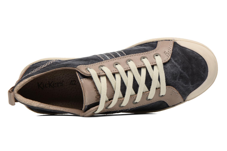 Sneakers Kickers TRIDENT Blå bild från vänster sidan