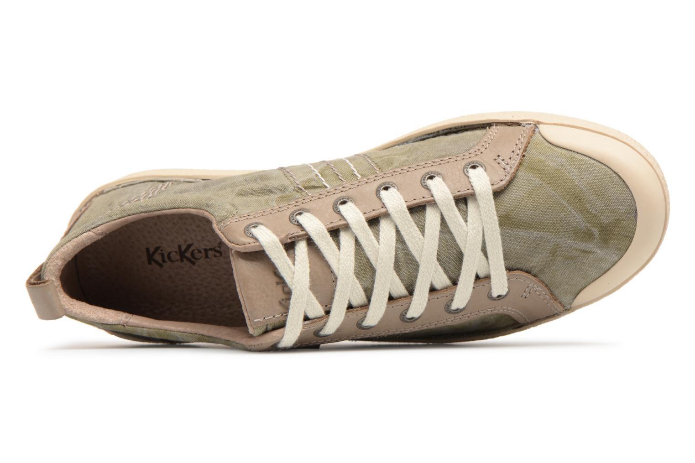 Sneaker Kickers TRIDENT grün ansicht von links