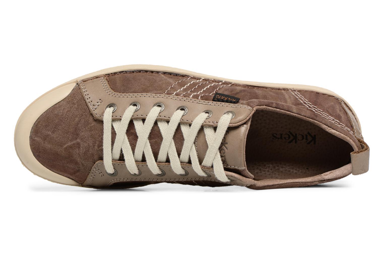 Sneaker Kickers TRIDENT braun ansicht von links