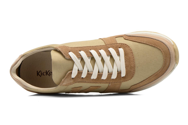 Sneakers Kickers NIELO Beige se fra venstre