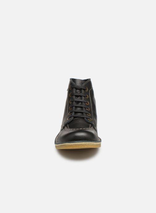 Bottines et boots Kickers Kickstoner Noir vue portées chaussures