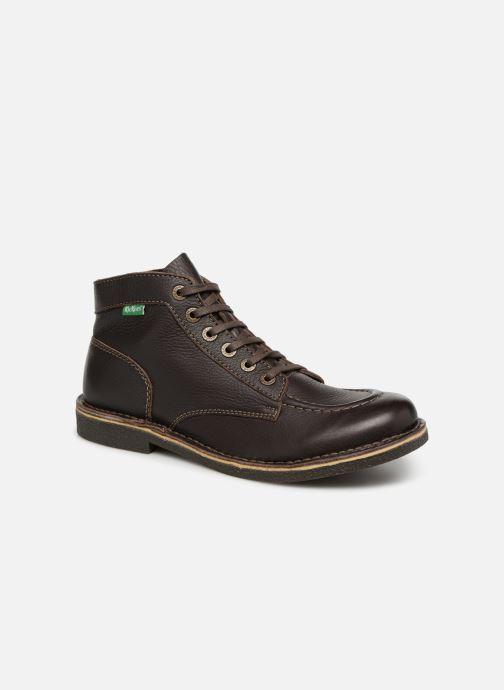 Ankelstøvler Kickers Kickstoner Brun detaljeret billede af skoene