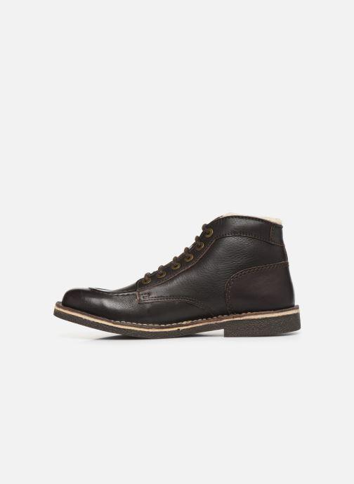 Boots en enkellaarsjes Kickers Kickstoner Bruin voorkant