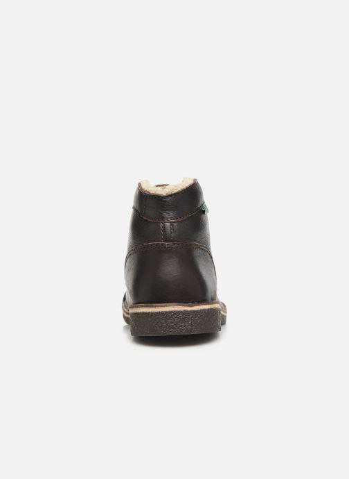 Boots en enkellaarsjes Kickers Kickstoner Bruin rechts