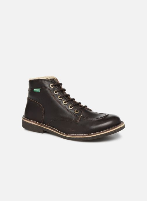Boots en enkellaarsjes Kickers Kickstoner Bruin detail
