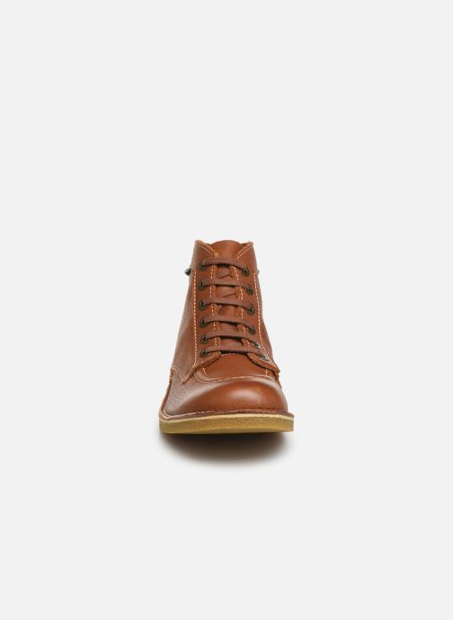 Bottines et boots Kickers Kickstoner Marron vue portées chaussures