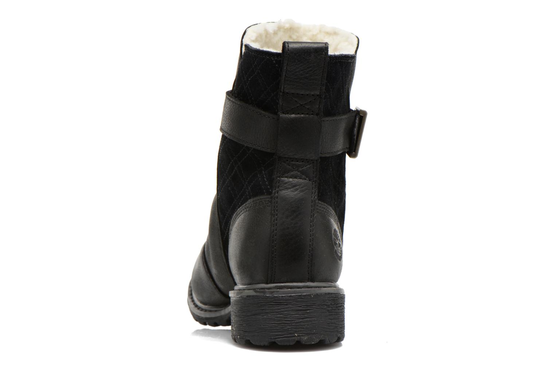 Bottines et boots Timberland Stoddard Quilted Warm Noir vue droite