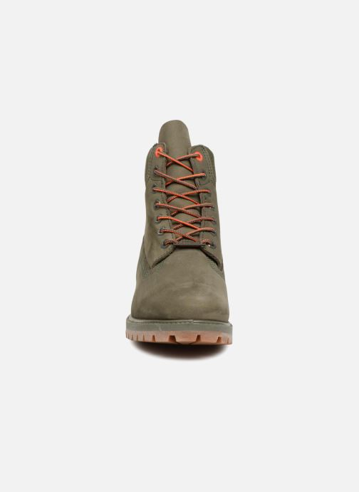 "Bottines et boots Timberland 6"" Premium Boot Vert vue portées chaussures"