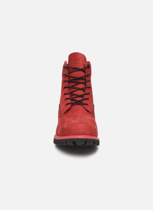 "Bottines et boots Timberland 6"" Premium Boot Rouge vue portées chaussures"