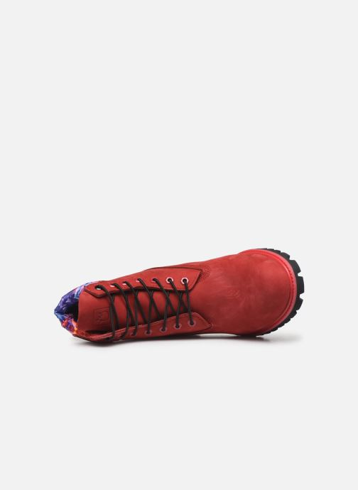 "Bottines et boots Timberland 6"" Premium Boot Rouge vue gauche"