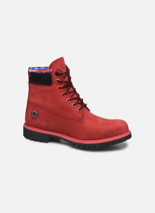 """Ankle boots Timberland 6"""" Premium Boot Red detailed view/ Pair view"""