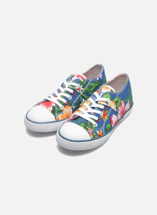 Trainers Little Mary Little Tennis Flower Blue 3/4 view