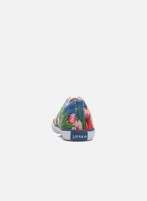 Deportivas Little Mary Little Tennis Flower Azul vista lateral derecha